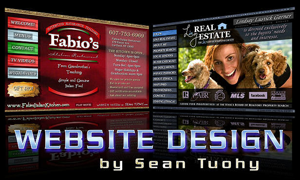 Web Site Design - Ithaca, NY - Syracuse, New York - Cortland, NY - by Sean Tuohy